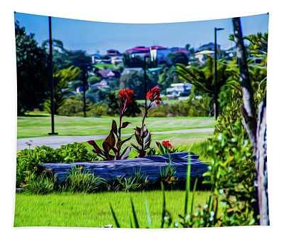 Garden Log Tapestry