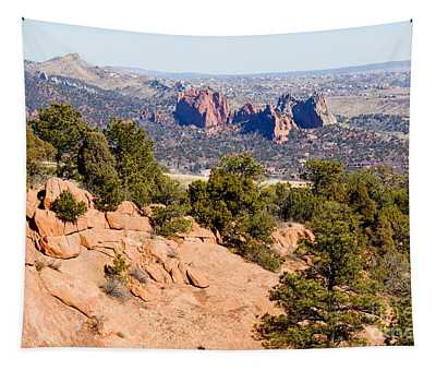 Garden Of The Gods And Springs West Side Tapestry
