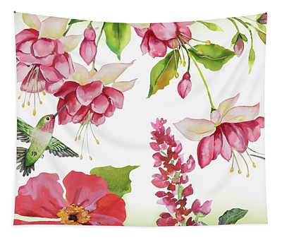 Garden Party-d Tapestry