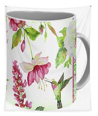 Garden Party-d Mug Logo Tapestry