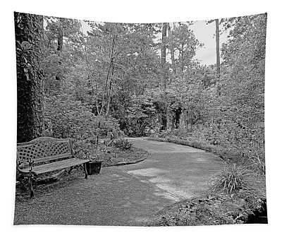 Gardens Walkway In Black And White Tapestry