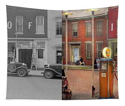 Gas Station - Lazy Saturday's 1935 - Side By Side Tapestry