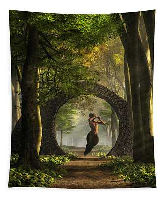 Gate To Pan's Garden Tapestry