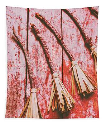 Gathering Of Evil Witches Still Life Tapestry