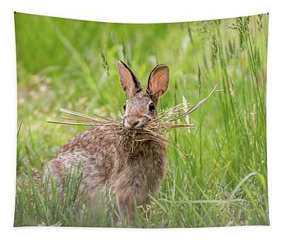 Gathering Rabbit Tapestry