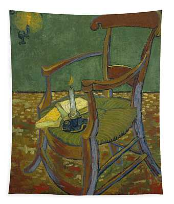 Tapestry featuring the painting Gauguin's Chair by Van Gogh