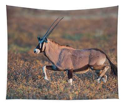 Gemsbok Oryx Gazelle In A Field, Etosha Tapestry