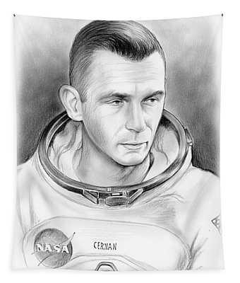 Astronaut Gene Cernan Tapestry