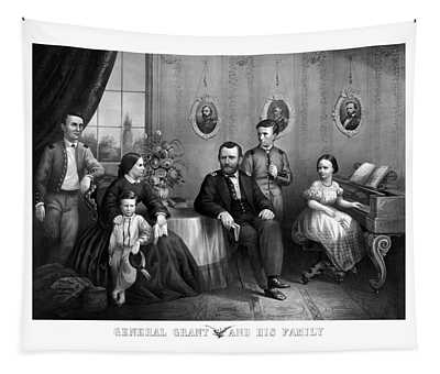 General Grant And His Family Tapestry