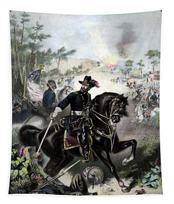 General Grant During Battle Tapestry