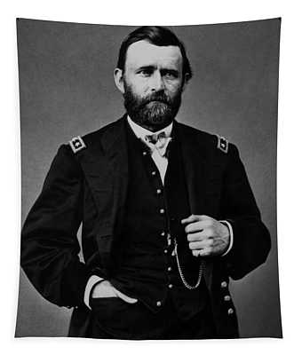 General Grant During The Civil War Tapestry