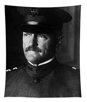 General John Pershing Portrait Tapestry