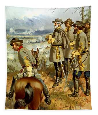 General Lee At The Battle Of Fredericksburg Tapestry