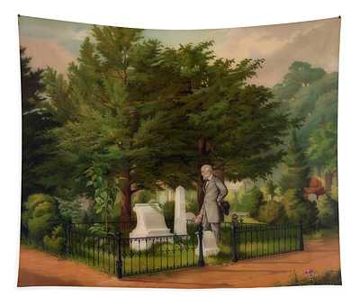 General Lee's Last Visit To Stonewall Jackson's Grave Tapestry