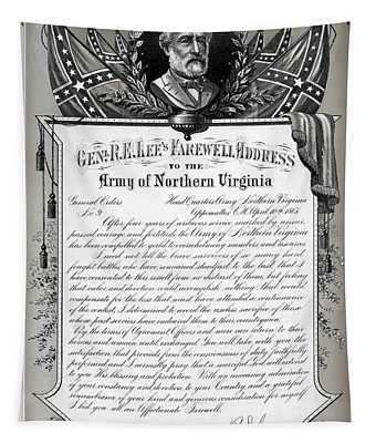 General Robert E. Lee's Farewell Address To Confederate Soldiers Tapestry
