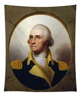 General Washington - Porthole Portrait  Tapestry