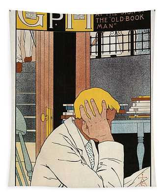 Geo. P. Humphrey - Book Company - Rochester, New York - Vintage Advertising Poster Tapestry