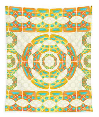 Geometric Composition Tapestry