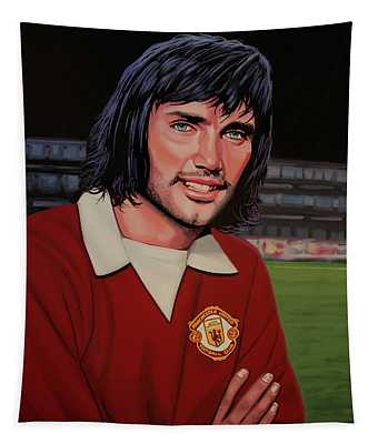 George Best Painting Tapestry