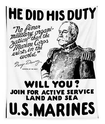 George Dewey - Us Marines Recruiting Tapestry