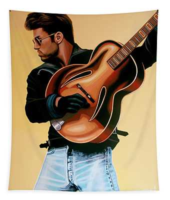 George Michael Painting Tapestry