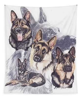 German Shepherd Medley Tapestry