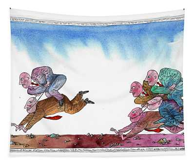Get Ready For Corporate  Horse Racing Tapestry