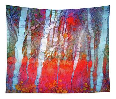 Ghosts In The Autumn Forest Tapestry