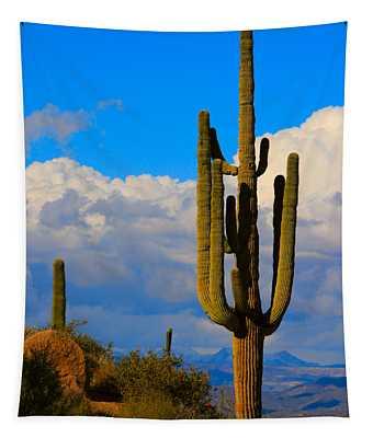 Giant Saguaro In The Southwest Desert  Tapestry