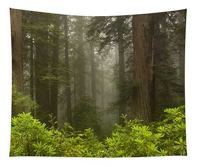 Giants In The Mist Tapestry