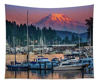Gig Harbor Dusk Tapestry