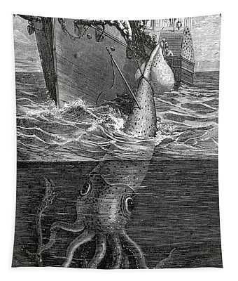 Gigantic Cuttle Fish Tapestry
