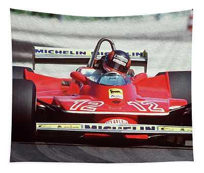 Gilles Villeneuve, Ferrari Legend - 01 Tapestry
