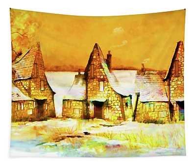 Gingerbread Cottages Tapestry