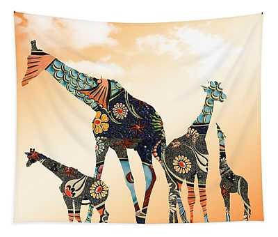 Giraffe Stroll Tapestry