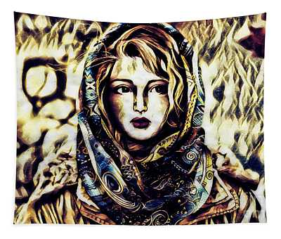 Girl In Hijab Tapestry