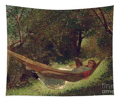 Girl In The Hammock Tapestry