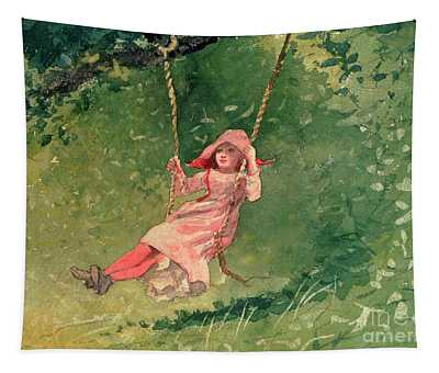 Girl On A Swing Tapestry