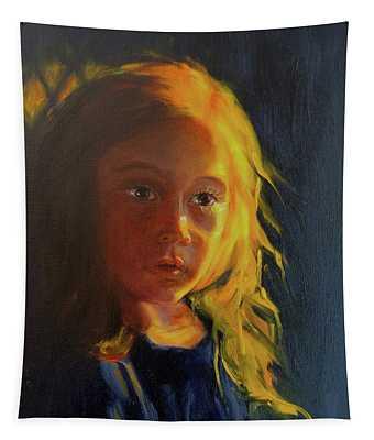 Girl On Sunlit Tapestry