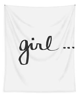 Girl Talk- Art By Linda Woods Tapestry