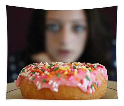 Girl With Doughnut Tapestry