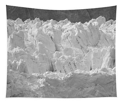 Glacial Ice In Black And White Tapestry