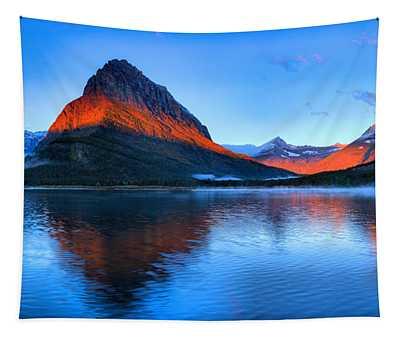 Glacier Sunrise Stripe Tapestry