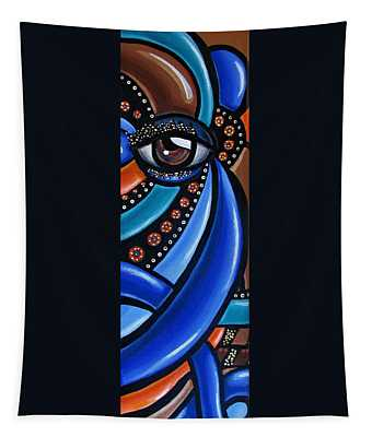 Abstract Eye Art Acrylic Eye Painting Surreal Colorful Chromatic Artwork Tapestry