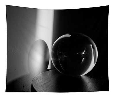 Glass Sphere In Light And Shadow Tapestry