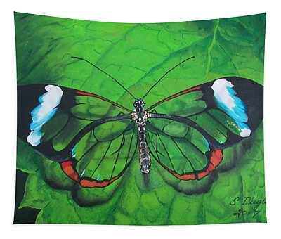 Glass Wing Butterfly Tapestry