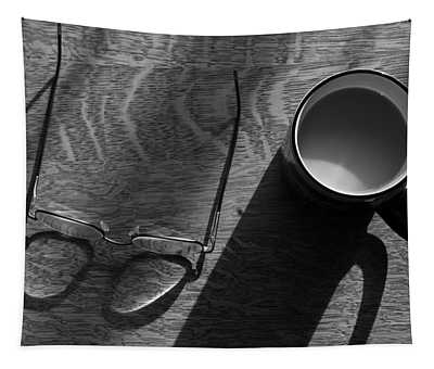 Glasses And Coffee Mug Tapestry