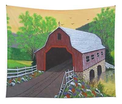 Glenda's Covered Bridge Tapestry