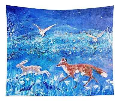 Glimmering Girl Tapestry