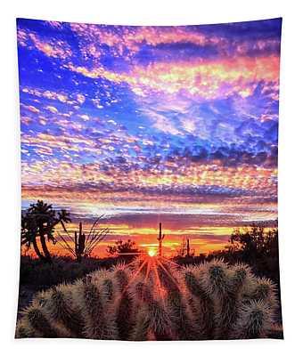 Glimmering Skies Tapestry